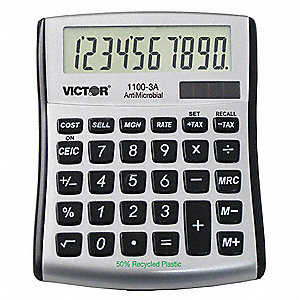 PORTABLE CALCULATOR,LCD,10 DIGITS