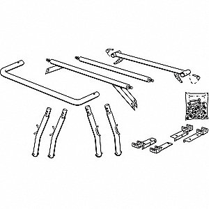 Leg and Cross Bar Kit, Steel Tubing, 1700 lb. Load Capacity
