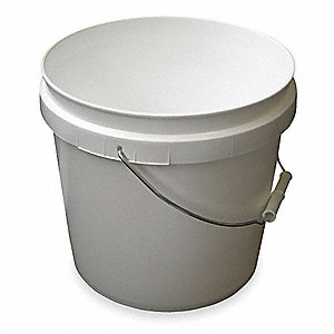 2 gal. High Density Polyethylene Round Plastic Pail, White