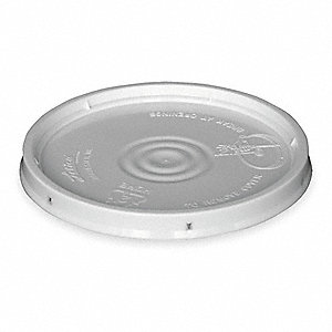 Plastic Pail Lid,White,For Use w/1TME2