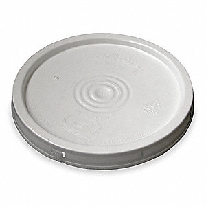 Plastic Pail Lid,White,For 1TMD9, 1TME1