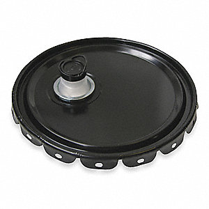 LID STEEL 12IN W/SPOUT UN BLK