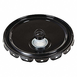 Steel Pail Lid,Black,For Use With 1TMH7