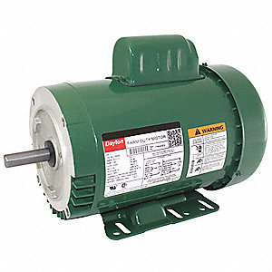 1 HP High Torque Farm Duty Motor,Capacitor-Start,1725 Nameplate RPM,115/230 Voltage,Frame 56HC