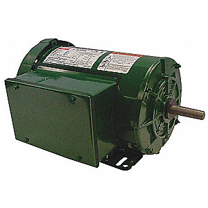 1-1/2 HP High Torque Farm Duty Motor,Capacitor-Start,1725 Nameplate RPM,115/230 Voltage