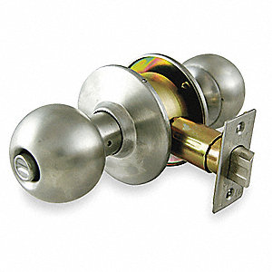 Privacy Knob Lockset, Stainless Steel Finish, Heavy Duty