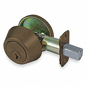 Light-Duty Oil Rubbed Bronze 2VMX9-Series Deadbolt w/Thumbturn, Different