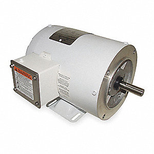 1 HP Washdown Motor,3-Phase,1725 Nameplate RPM,208-230/460 Voltage,Frame 56C
