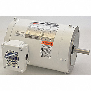 3/4 HP Washdown Motor,3-Phase,1745 Nameplate RPM,230/460 Voltage,Frame 56C