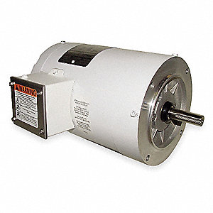 1/2 HP Washdown Motor,3-Phase,1725 Nameplate RPM,208-230/460 Voltage,Frame 56C