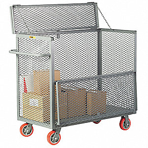 "54""L x 32""W x 54"" Security Box Cart, 3600 lb. Load Capacity"