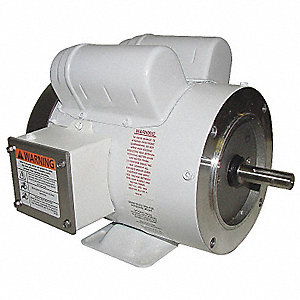 1/2 HP Washdown Motor,Capacitor-Start,1725 Nameplate RPM,115/208-230 Voltage,Frame 56C