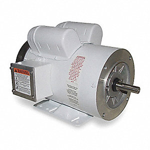 1 HP Washdown Motor,Capacitor-Start,1725 Nameplate RPM,115/208-230 Voltage,Frame 56HC