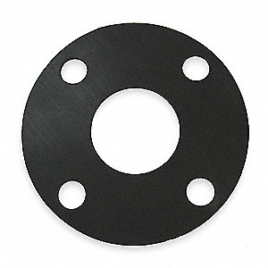 "Neoprene Blend Flange Gasket, 4-1/4"" Outside Dia., Black"