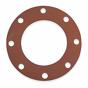 "SBR Blend Flange Gasket, 9"" Outside Dia., Red"