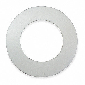 "Virgin PTFE Flange Gasket, 5-3/8"" Outside Dia., White"