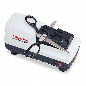 "2-Stage Electric Scissors Sharpener, 7-1/2"" x 3-1/2"" x 4"""