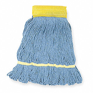 Cotton/Synthetic Blend Antimicrobial Looped-End Wet Mop, 1 EA