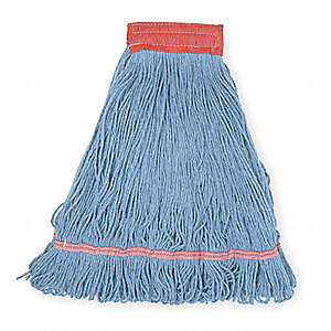 Clamp, Quick Change, Side-Gate Rayon String Mop Head, Blue