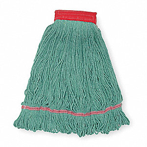 Clamp, Quick Change, Side-Gate Cotton String Wet Mop Head, Green