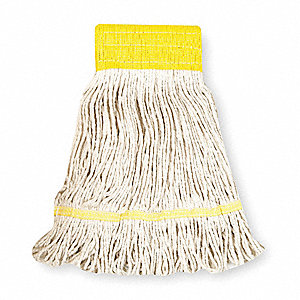 Clamp, Quick Change, Side-Gate Cotton String Wet Mop Head, White