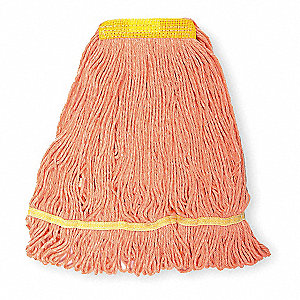 Quick Change, Side-Gate Cotton String Mop Head, Orange