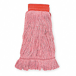 Clamp, Quick Change, Side-Gate Cotton String Wet Mop Head, Red