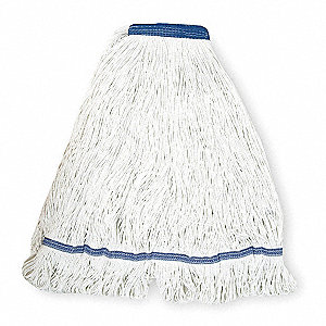Side Gate Nylon String Wet Mop Head, White