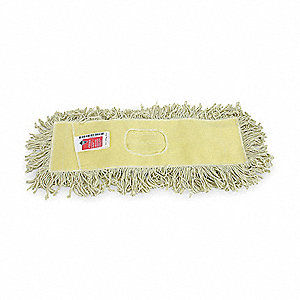 "Cotton, Polyester Dust Mop, Length 24"", Width 5"", 1 EA"