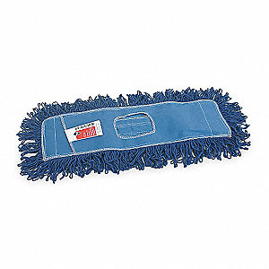 "Cotton, Polyester Dust Mop, Length 18"", Width 5"", 1 EA"