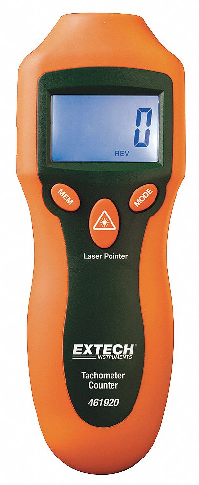 Laser Tachometer, 2 to 99, 999 rpm
