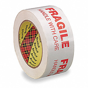 100m x 48mm Polypropylene Carton Sealing Tape, White