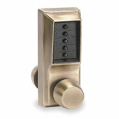 KABA LD4714832D41 Push Button Lock,Passage,Satin Stainless