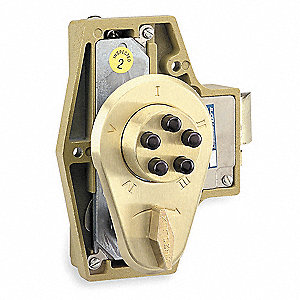 Mechanical Push Button Deadbolt, 5 Button, Vandal Resistant, Entry with Deadlocking Non-holdback Spr