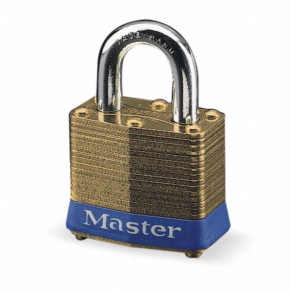 master lock different keyed padlock open shackle type 15 16 shackle height brass 1u168 2. Black Bedroom Furniture Sets. Home Design Ideas