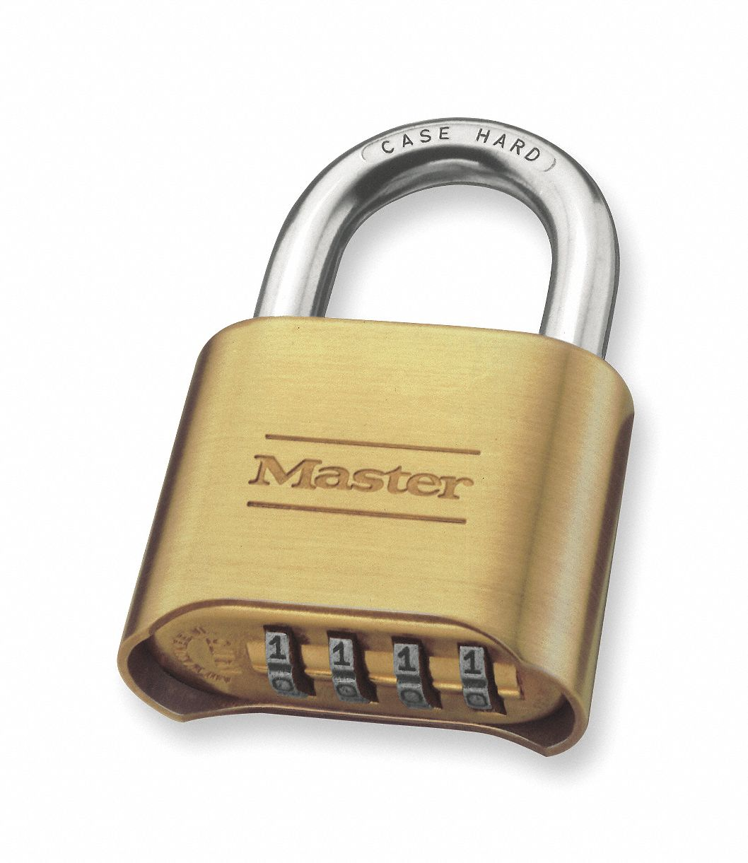Combination Padlock,  Resettable,  Bottom Dial Location,  Horizontal Shackle Clearance 1 in