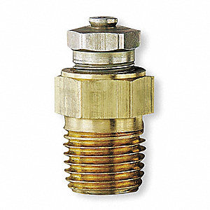 "0.59"" Brass and Plated Steel Relief/Filler Vent Plug"