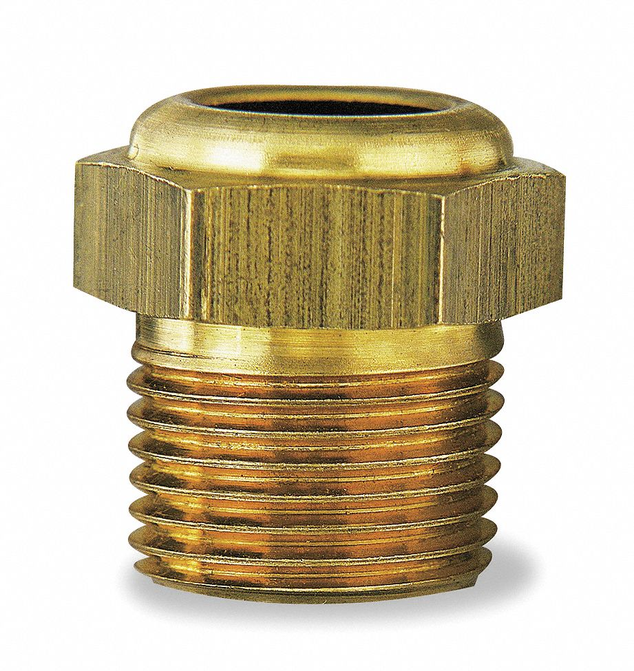 Solid Brass Low PSI Liquid Level Sight Plug; 3/8-18 NPT