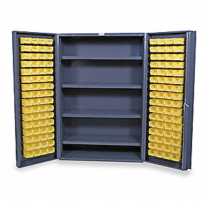 "Bin Cabinet, 72"" Overall Height, 48"" Overall Width, Total Number of Bins 128"