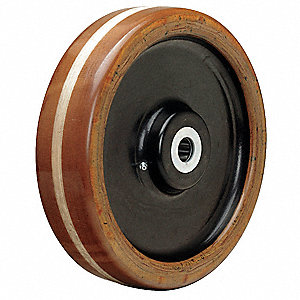"12"" Caster Wheel, 4400 lb. Load Rating, Wheel Width 3"", Phenolic, Fits Axle Dia. 1"""