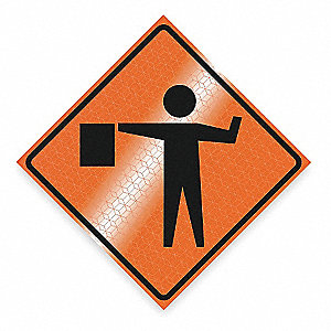 "Symbol, High Intensity Reflective Vinyl Traffic Sign, Height 48"", Width 48"""