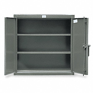"Heavy Duty Storage Cabinet, Dark Gray, 36"" H X 36"" W X 24"" D, Assembled"
