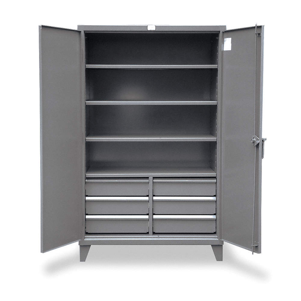 Zoom Out/Reset Put photo at full zoom u0026 then double click.  sc 1 st  Grainger & STRONG HOLD Heavy Duty Storage Cabinet Dark Gray 78