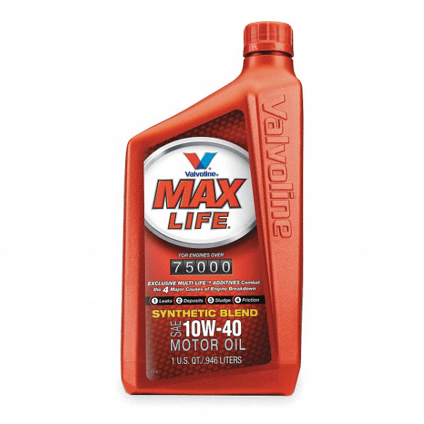 Valvoline Maxlife Synthetic Blend 10w40 1 Qt 1ubz3 797977 Grainger