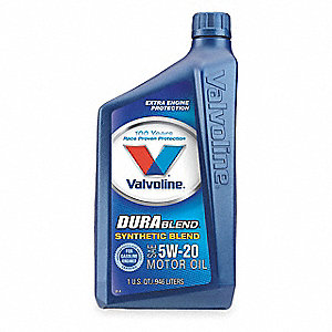 Synthetic Blend Engine Oil, 1 qt. Bottle, SAE Grade: 5W-20, Amber