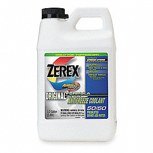 Antifreeze Coolant,1/2 gal.,RTU