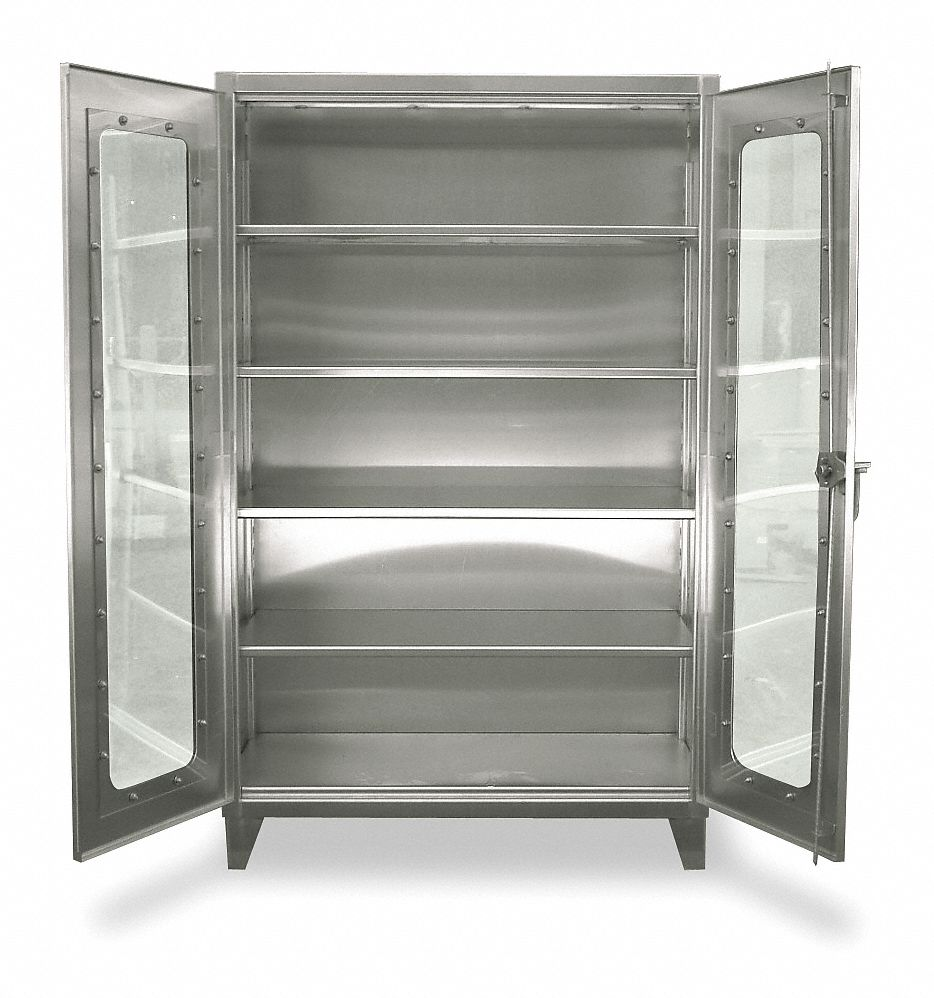 Strong Hold Heavy Duty Storage Cabinet Silver 78 In H X 60 In W X 24 In D Assembled 1ucd3 56 Ld 244ss Grainger