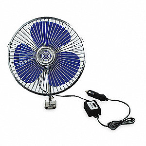 Fan,Upstanding,12 V,Dia 8 In