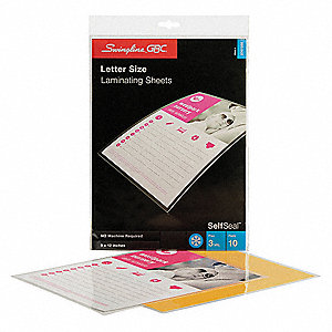 Laminating Sheets,12x9 In.,PK10