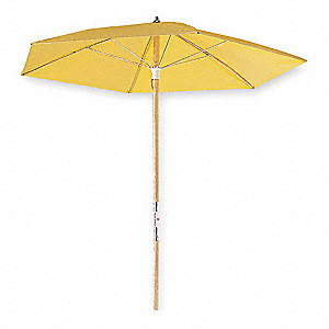 "Manhole Utility Shelter Economy Umbrella,  84"" Overall Height,  68"" Diameter,  Vinyl,  Yellow"